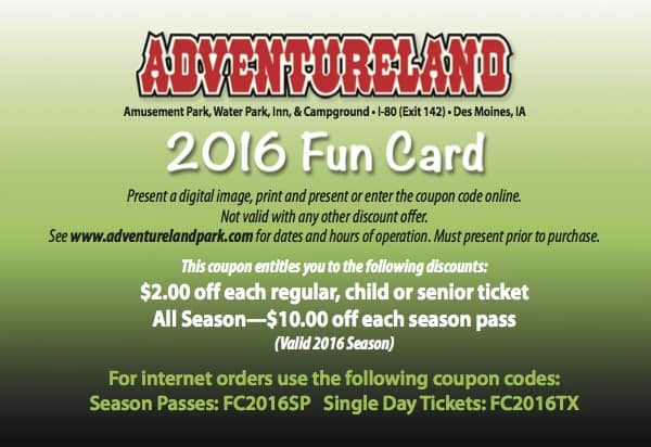 image about Adventureland Coupons Printable known as Adventureland park price cut discount codes : Practice code coupon