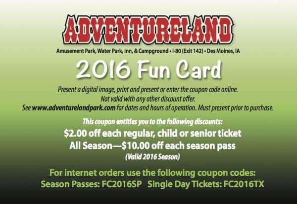 Casey's adventureland discount coupons