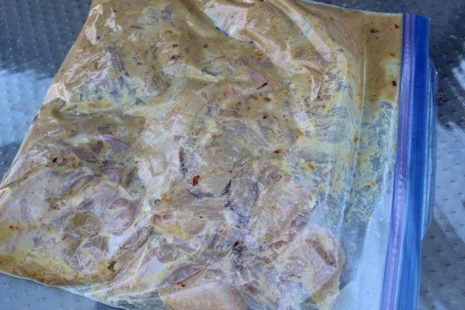 Chicken marinading