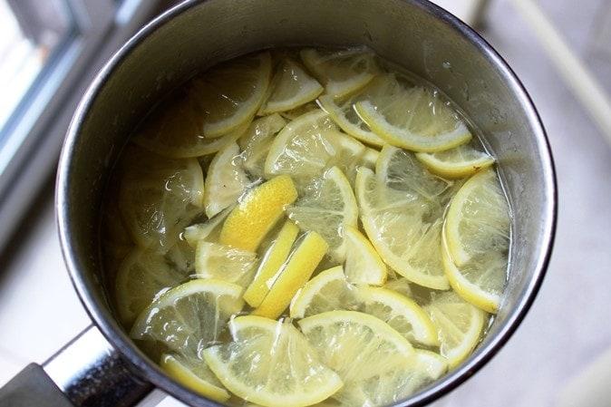 blanching lemon