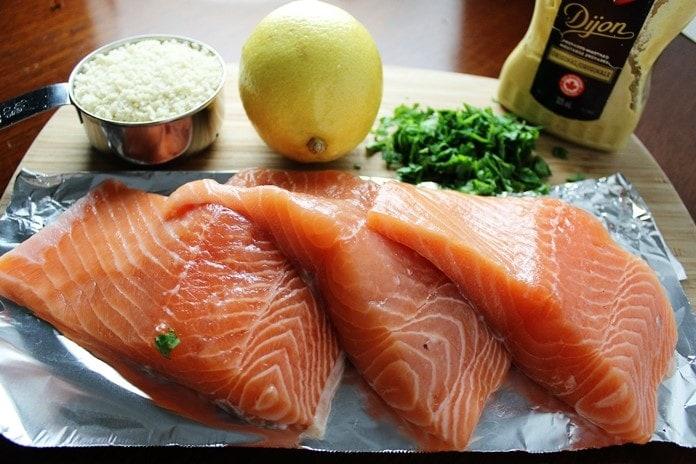 Lemon Panko Crusted Salmon ingredients