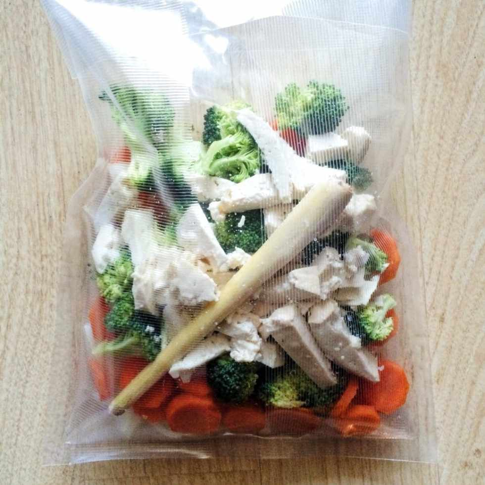 Vegetable and Tofu SousVide