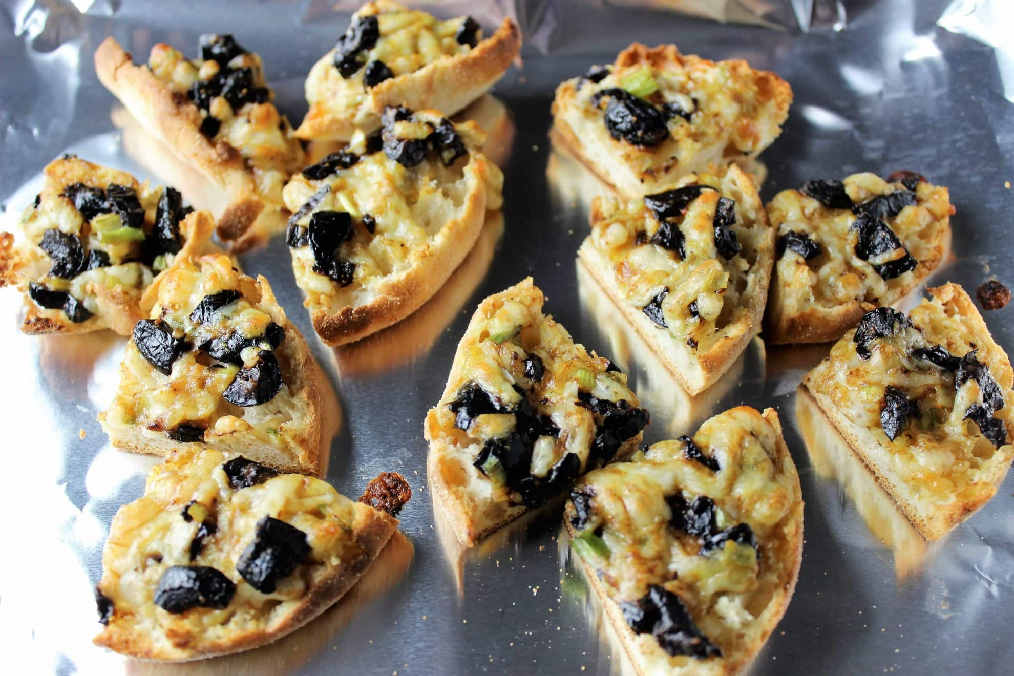 Melted Olive Cheese Appetizers