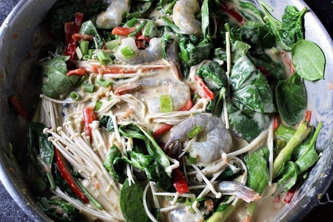 Thai Curry Shrimp and Vegetables