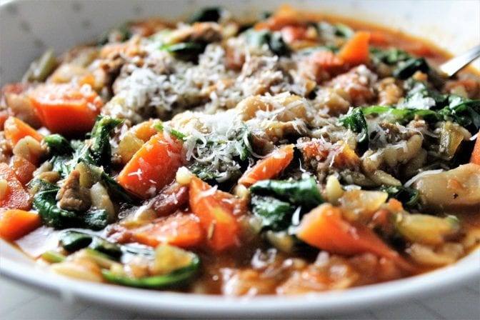 Hearty Healthy Spicy Sausage Soup