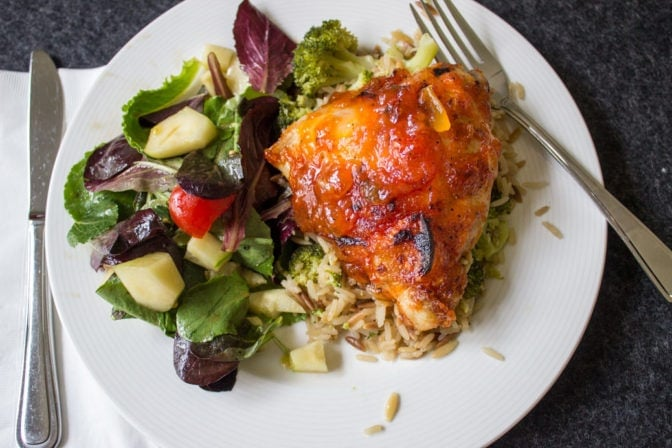Baked Apricot Onion Chicken