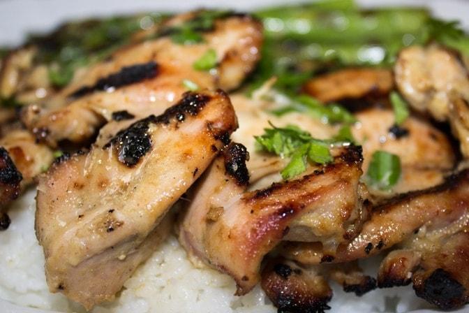 Thai-inspired marinated grilled chicken