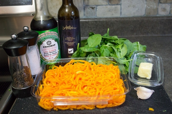 Spiralized Butternut Squash with Balsamic Butter Sauce ingredients