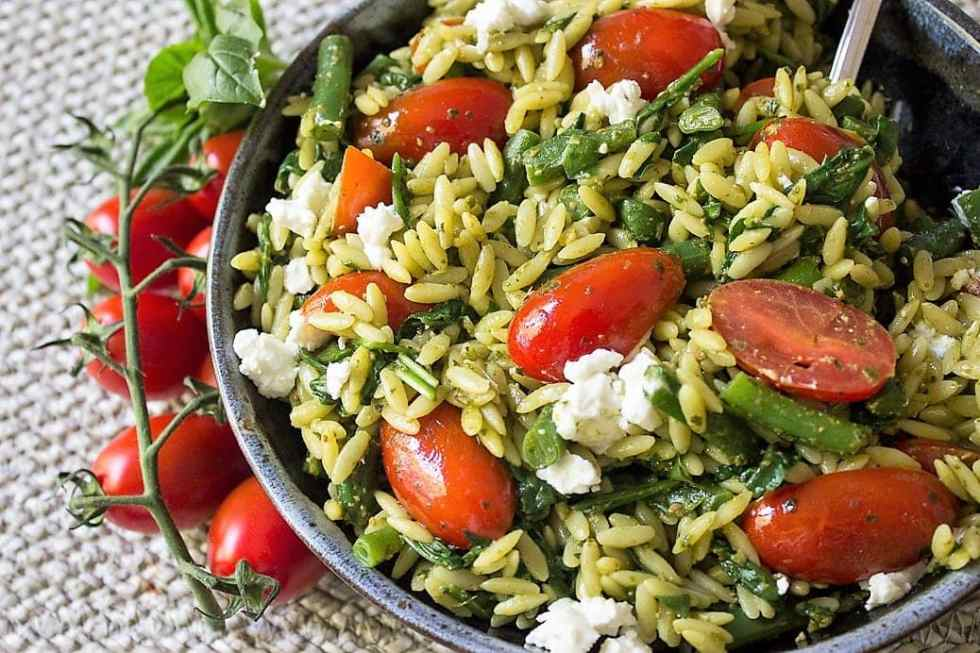 Pesto and Vegetable Orzo