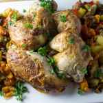 One Pan Roast Chicken and Vegetables
