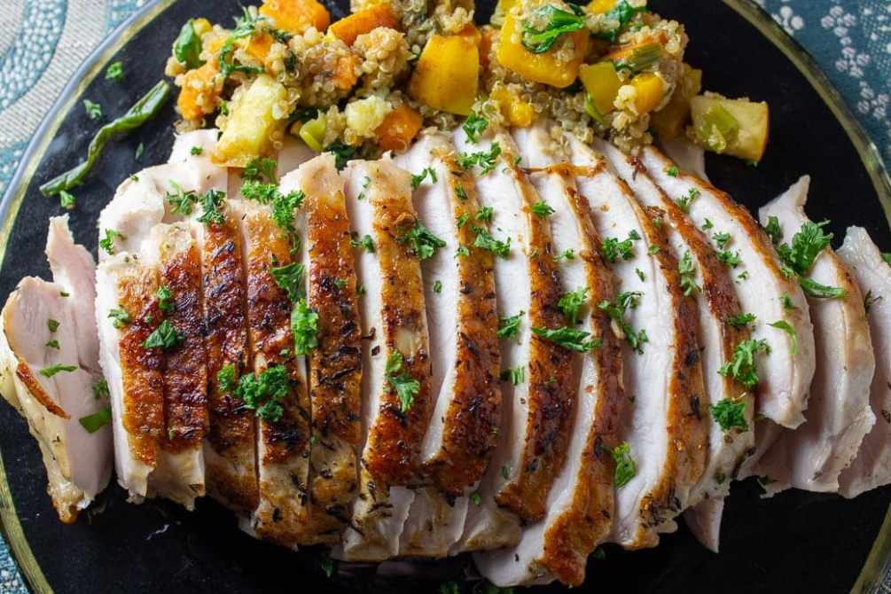 Succulent sous vide turkey breast