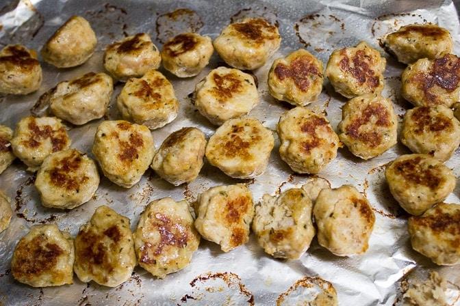 Cocktail Chicken Meatballs