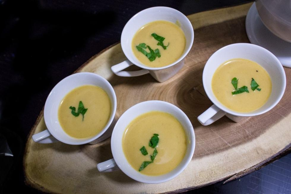 thai inspired butternut squash soup