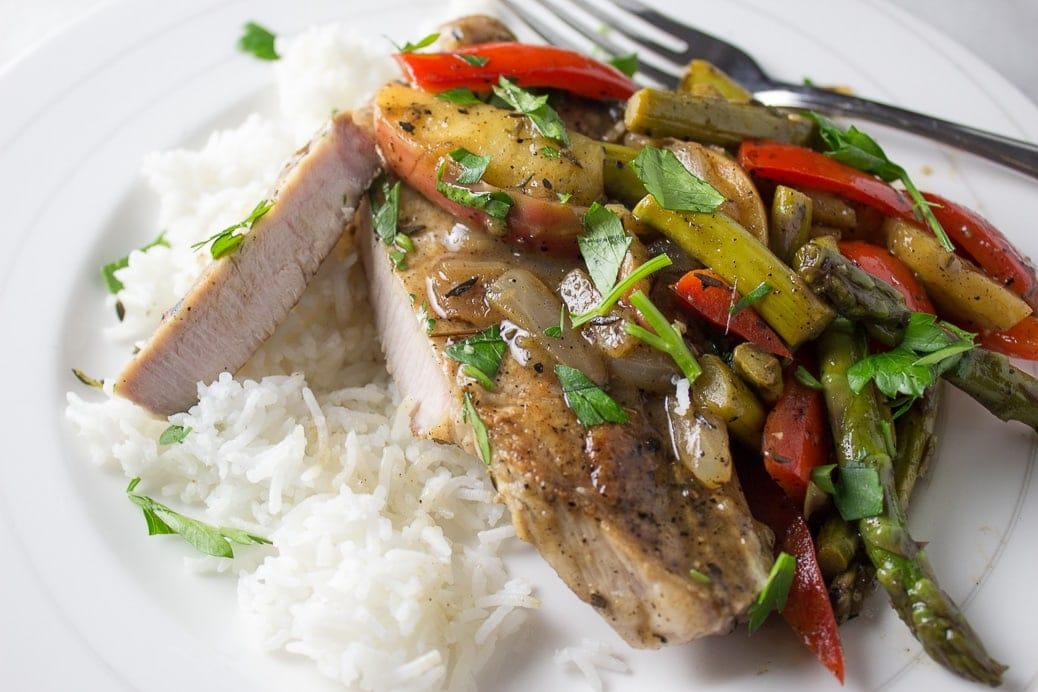 Skillet Pork Chop Dinner