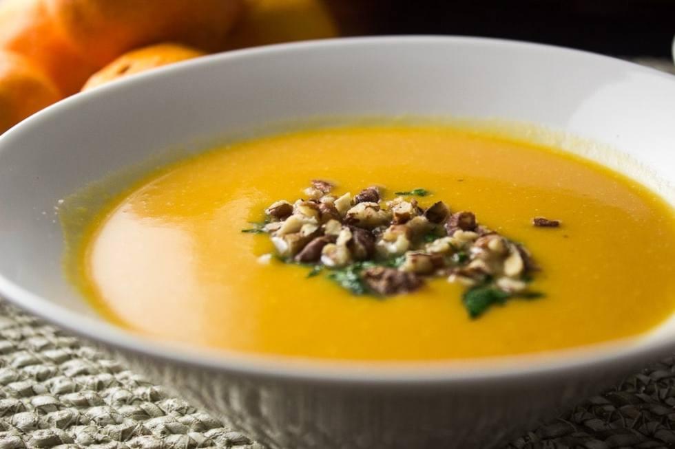Squash, Sweet Potato & Mandarin Soup. Silky, creamy blend of orange citrus, veggies and coconut milk.