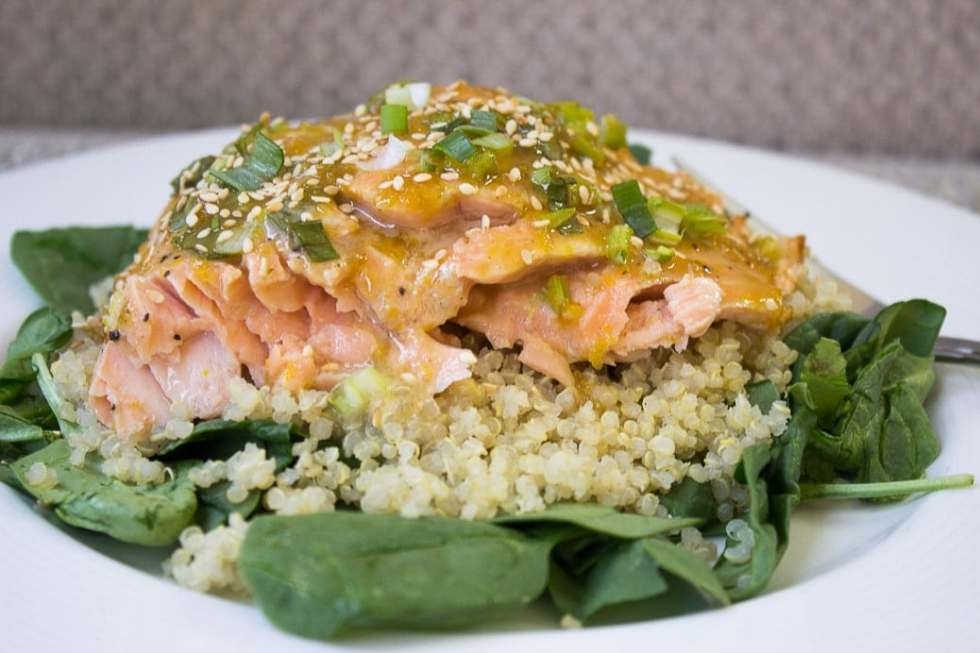 Citrus-Maple Glazed Salmon