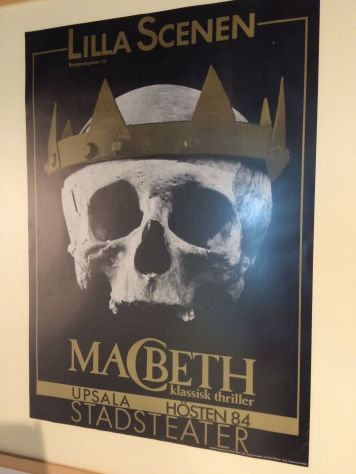 "A poster for ""Macbeth"" from Sweden! At ""Our Shakespeare"" at the Library of Birmingham."