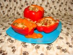 Cooking for Dogs – Stuffed Peppers
