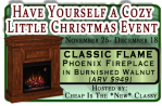 Win a Fireplace to Help Keep You and Your Pets Warm!