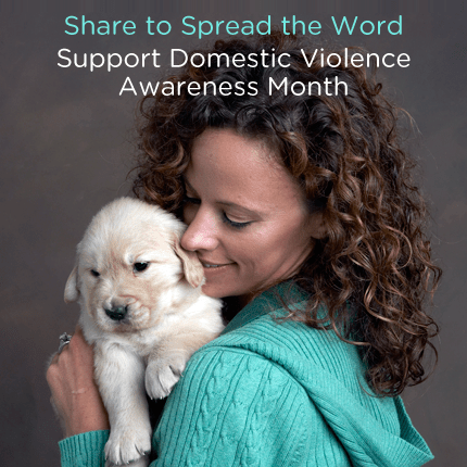 AKC Humane Fund Support Domestic Violence Awareness Month