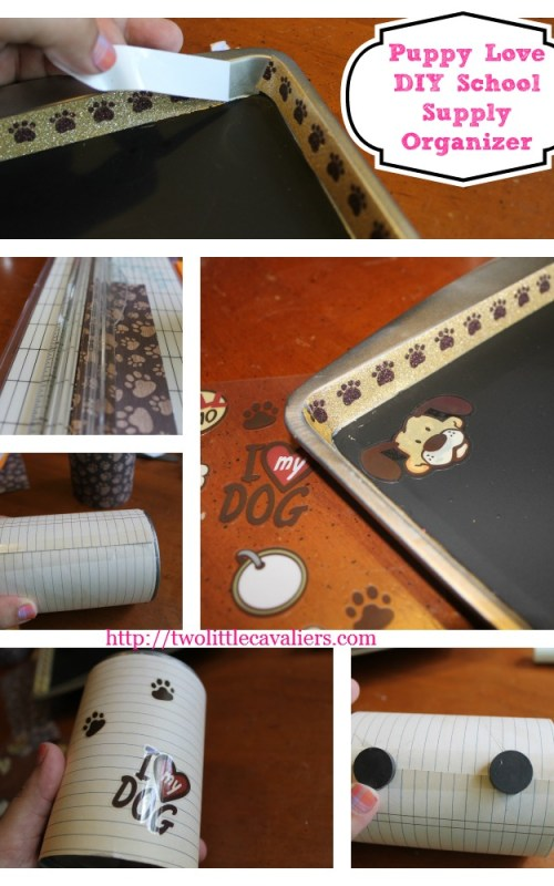 Puppy Love DIY School Supply Organizer