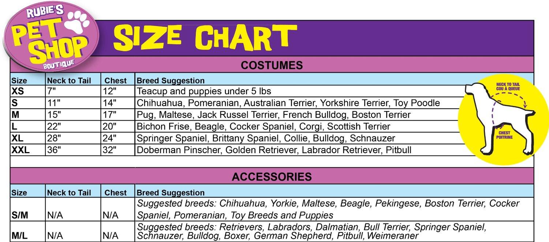 Rubies pet shop boutique size chart two little cavaliers rubies pet shop boutique size chart nvjuhfo Choice Image