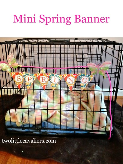 Mini Spring Banner Printable Make a Crate A Home For Crate Happy Pets