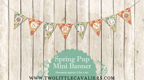 Spring Puppy Mini Banner