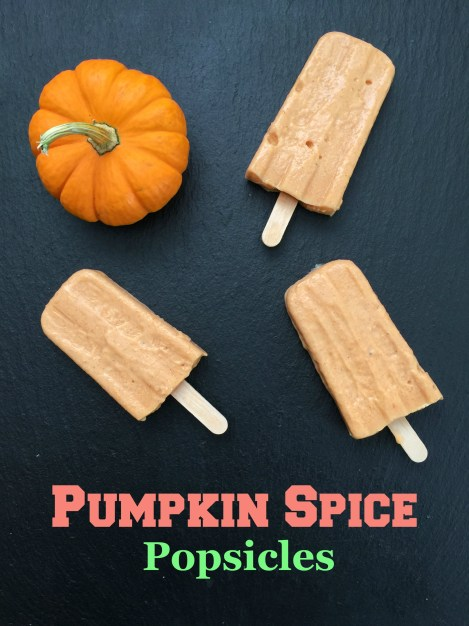 Pumpkin Spice Popsicles with Yogurt