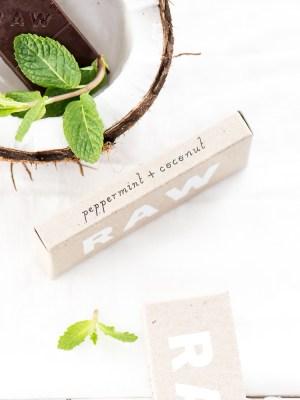R A W   [Peppermint + Coconut] Chocolate