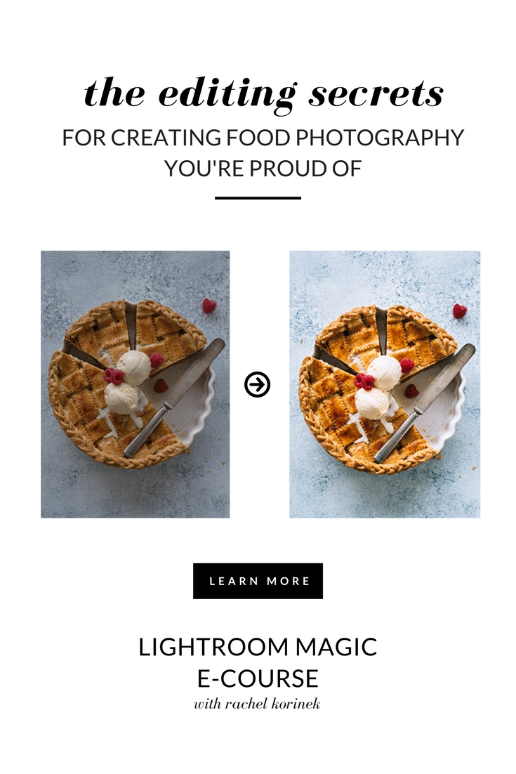 Lightroom Training with Rachel Korinek. The Editing Secrets For Creating Food Photography You're Proud Of.