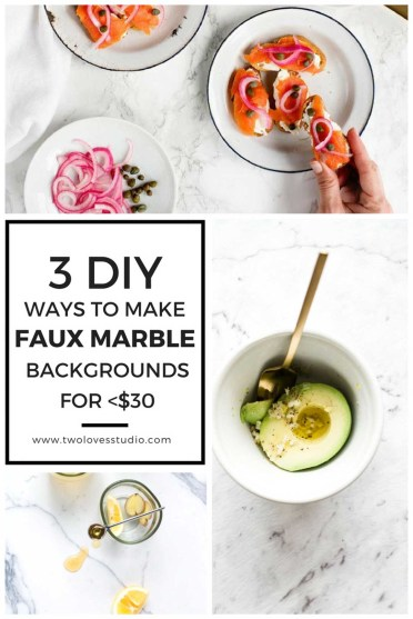 DIY Faux Marble Backgrounds for Food Photography
