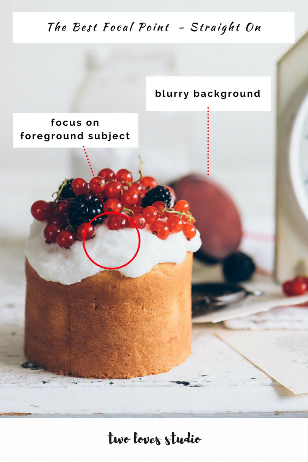 Not sure how to choose the best focal point in your food photography? Learn the best focal point for the angle you're shooting and when to focus on the foreground, middleground and background. Click to learn!