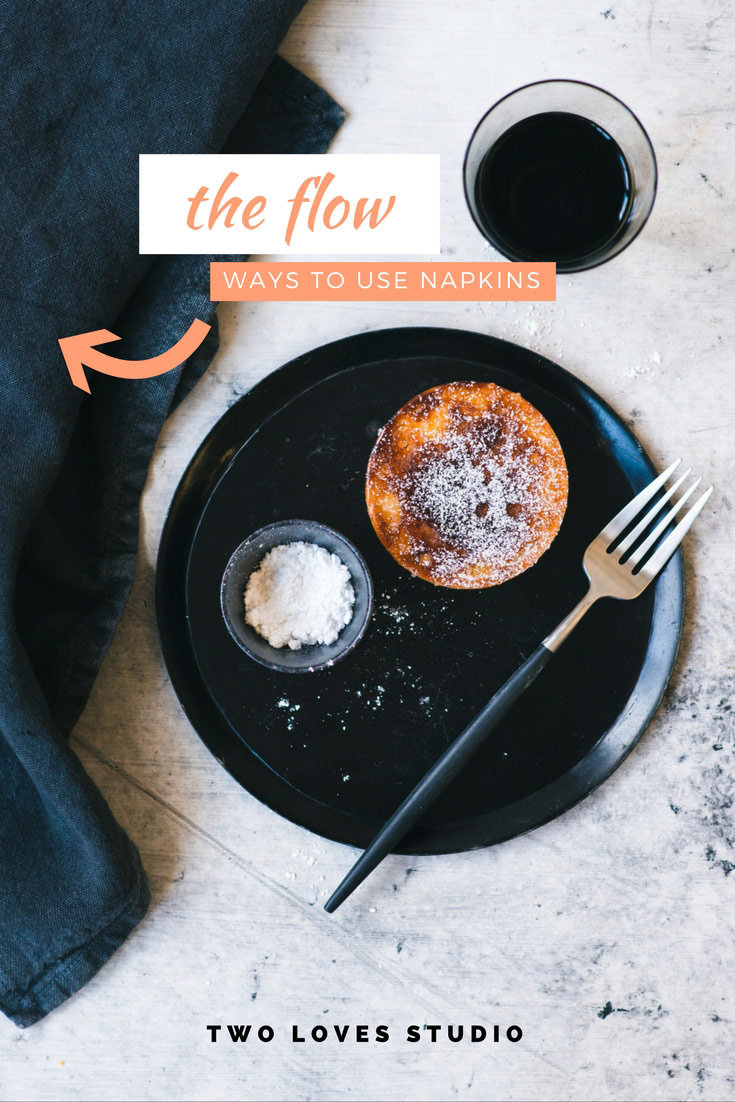 If Iinens or napkins in food styling never fold the way you want them to then click to watch this video on 5 creative ways to use them in food styling.