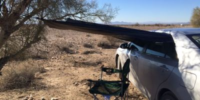 Photo: Car camp in the Arizona desert