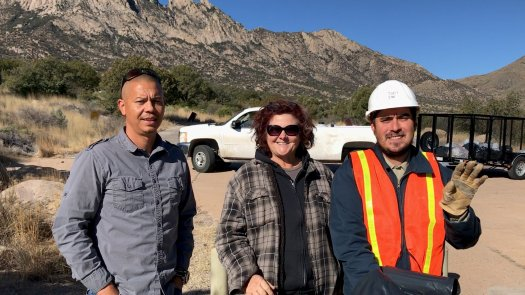 Photo of Brian Debra and Tony at Aguirre Springs