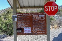 Photo: Registration and information kiosk at Aguirre Spring Campground