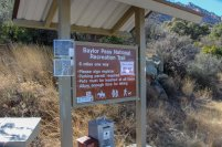 Photo: Baylor Pass Trail sign