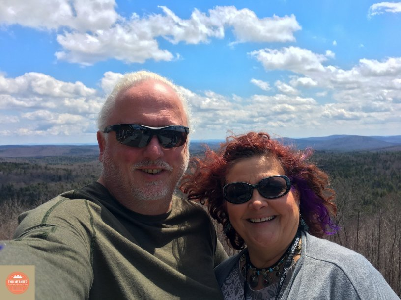 Photo: Debra and Robert on Hogback Mountain