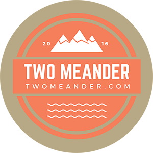 Photo: Two Meander Logo Sticker