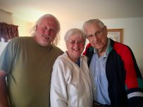 Photo: Robert with his aunt and grandfather, Dusty Cal Witham