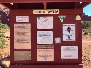 Photo: Registration kiosk at Fisher Towers Campground