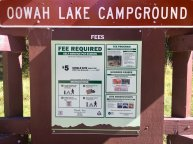 Photo: Registration kiosk and signboard at Oowah Lake Campground
