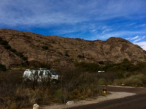 Photo: Camped at Hueco Tanks State Park near El Paso