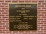 Photo: Sign at Koff Veterans Park