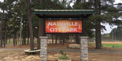 Photo: Nashville, Arkansas City Park Sign