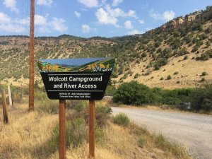 Photo: Entrance sign at Wolcott Campground