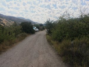 Photo: Road to campsites at Wolcott, Colorado