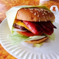 Mike's Hockey Burger: Boyle Heights, Vernon