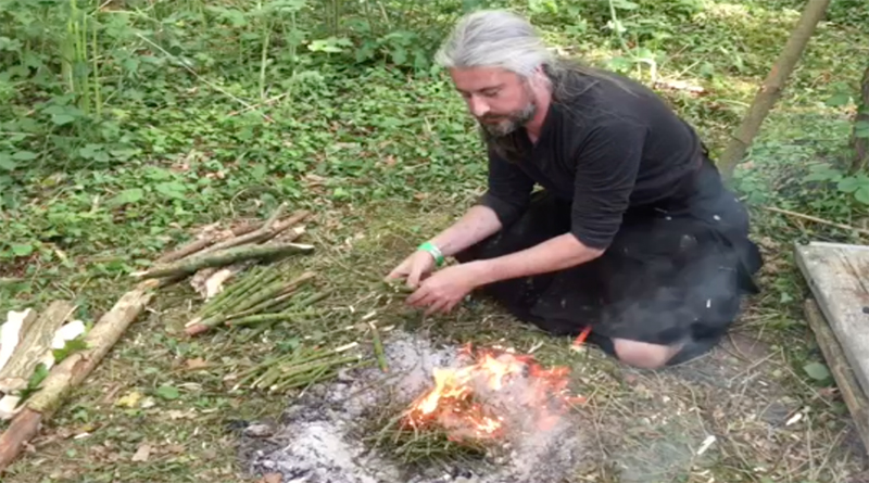 Char Cloth And Pine Needle Fire